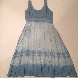 Light blue tie-dye beach cover up
